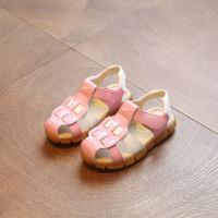 新款夏季宝宝包头男童凉鞋女童儿童沙滩鞋