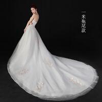 抹胸婚纱礼服2018年新款韩式新娘结婚拖尾齐地公主梦幻显瘦出门纱