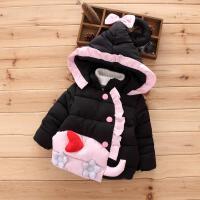 女童短款棉衣新款女宝宝冬装婴儿童装羽绒外套