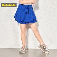 巴拉巴拉女童短裤小童宝宝夏装新款童装儿童裤子薄款甜美裙裤