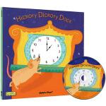英文原版 Hickory Dickory Dock 滴答滴答钟声响 附CD 超大开本 Child's Play儿歌洞洞