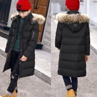 冬季儿童羽绒服男童中长款2018新款中大童男孩加厚白鸭绒毛领秋冬新款