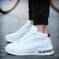 休闲鞋男鞋板鞋男士秋冬季运动鞋子韩版潮流透气网布增高气垫情侣小款白鞋