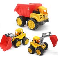 儿童沙滩玩具车大号工程车翻斗车推土机挖掘机男孩