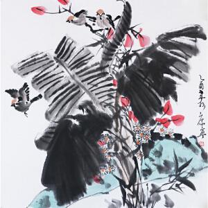 康宁《花鸟图》当代著名画家