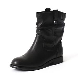 Teenmix/天美意专柜同款牛皮女中靴6S260DZ6