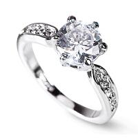 钻戒结婚戒指女情侣戒指婚戒婚礼对戒钻石戒指