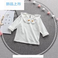 女童装春季长袖T恤上衣春秋女宝宝女婴儿春装135-7岁棉爱心打底衫