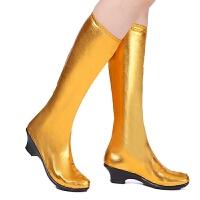 女式弹力舞蹈舞台演出鞋弹力高筒靴子少数民族蒙古鞋藏族舞鞋