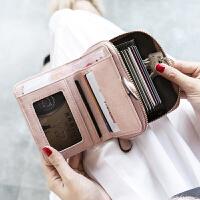 钱包女短款学生折叠2018新款小清新卡包钱包一体包