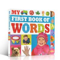 英文原版 儿童初级入门学习单词书 My First Book Of Words 幼儿早教启蒙词汇积累教材 全彩插画生动
