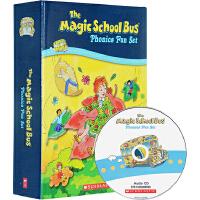 预售 英文原版绘本 神奇校车自然拼读法 Magic School Bus Phonics Fun12册附CD