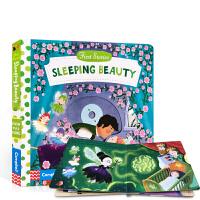 英文原版 First Stories Sleeping Beauty 睡美人 童话故事篇 儿童启蒙纸板抽拉操作游戏书 2-6岁