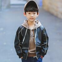 童装男童春装外套儿童2018新款春秋韩版中大童PU皮衣夹克男孩上衣