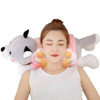 【品质精选】 按摩猪揉捏枕头毛绒玩具颈部腰背部颈椎按摩器女友妈妈生日礼物送女生