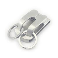 304纯不锈钢皮带钥匙扣男士汽车腰挂锁匙扣创意防丢挂件 银色