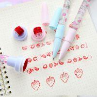 印章泡泡笔抖音同款多功能学生灯光滚轮印章四合一创意儿童圆珠笔