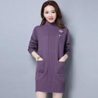毛衣女中长款秋冬韩版新款羊绒衫宽松显瘦加厚保暖针织羊毛打底衫