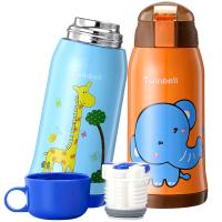 儿童保温杯带吸管两用fang摔宝宝水杯幼儿园学生便携水壶
