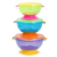 美国努比 nuby 套装吸盘碗 (绿+蓝+紫)6个月以上