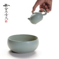 家用龙泉青瓷茶具茶壶陶瓷汝窑西施壶汝瓷泡茶壶单壶