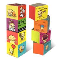 英文原版绘本 Baby's Book Tower 宝宝认知塔书培养行为习惯纸板书Leslie Patricelli ba