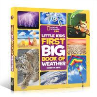 【全店300减100】英文原版 美国国家地理Little Kids First Big Book of Weather
