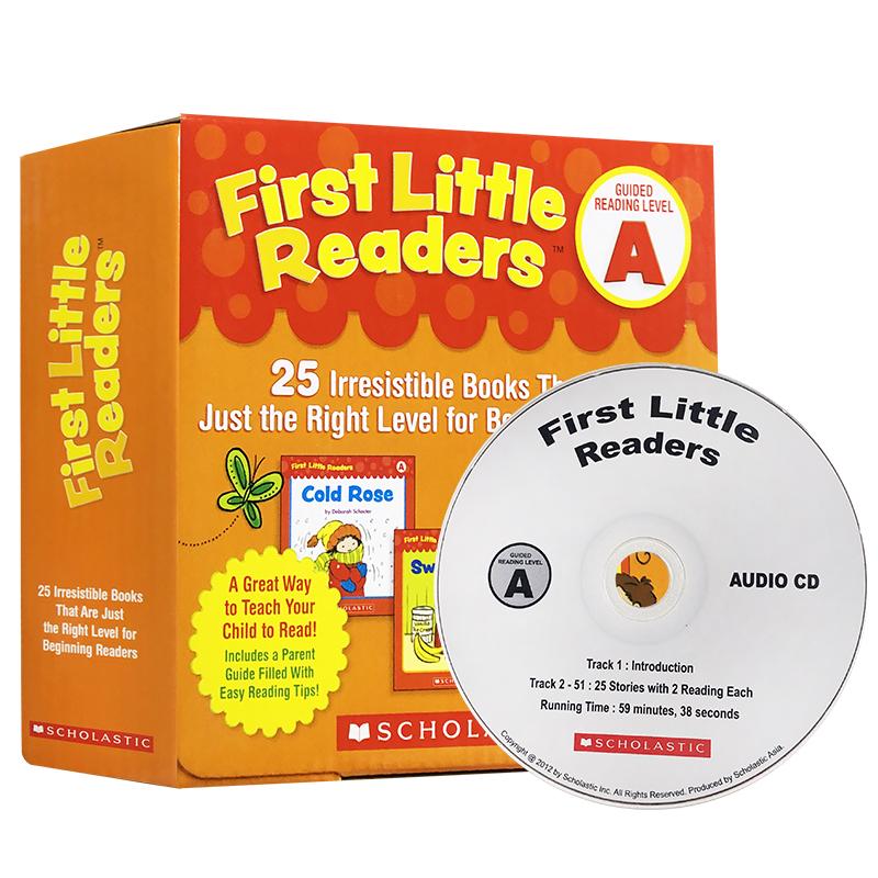 英文原版绘本 First Little Readers A 25本书+CD 小读者系列 学乐阅读入门启蒙 3-5-6-7-8岁学习英语正版图书+cd