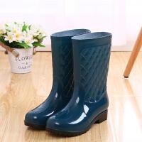女式水鞋高筒胶鞋女士雨鞋中筒雨鞋套雨靴防滑