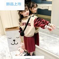 女童套装裙子2018春新款童装韩版7洋气8公主9儿童两件套时尚10岁