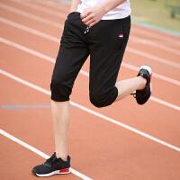 运动短裤男夏季男士运动裤男七分裤休闲裤弹力裤子男