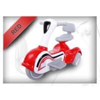 儿童电动三轮车摩托车带音乐男女宝宝可坐充电2-6-8岁木兰 红色 4.5电瓶