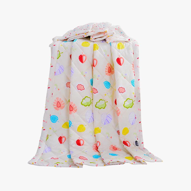 当当优品家纺 可水洗印花夏凉被 110x150单人空调被 草莓甜心黄当当自营 柔软透气 水洗机洗不变形
