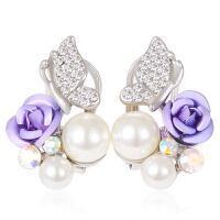 气质韩版简约复古典小耳钉女耳饰品时尚珍珠耳环流行首饰耳夹