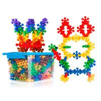 雪花片梅花积木儿童大号塑料男女孩拼插 幼儿园桶装玩具