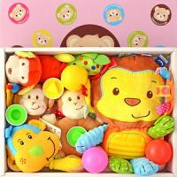 婴儿玩具 0-1岁 早教 婴幼儿玩具牙胶手摇铃 新生儿满月百天女男宝宝礼盒