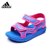 【超品秒杀价:159元】阿迪达斯adidas童鞋17年夏季新款凉鞋男童女童魔术贴沙滩鞋BB4973