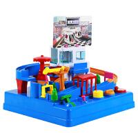 童励 轨道车大冒险儿童趣味桌面游戏机电动闯关亲子抖音玩具男女孩