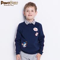 【3件4.5折 到手价:224】Pawinpaw卡通小熊童装秋男童套头卫衣中小童卡通可爱潮