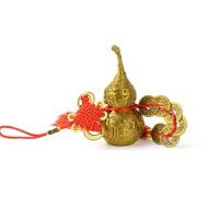 铜葫芦摆件 如意五帝钱六帝钱挂件风水装饰