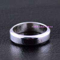 ?镶嵌小钻简约圆润925纯银戒指情侣泰银戒指
