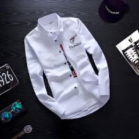 休闲长袖衬衫男士型免烫白衬衣潮男装寸衫