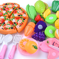 儿童切水果宝宝乐手推车蔬菜厨房组合男孩女孩过家家切切玩具套装