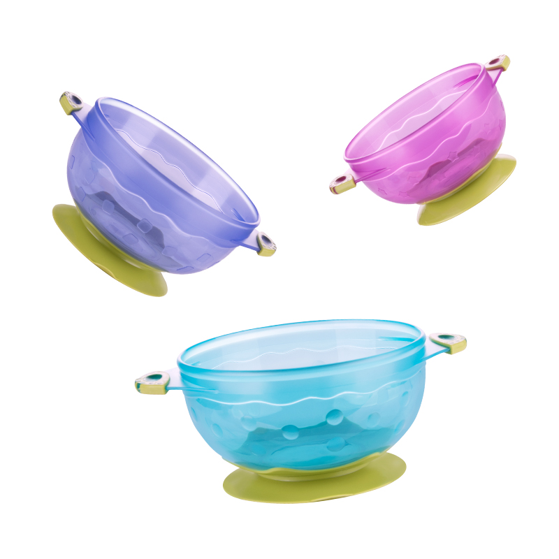 强力吸盘碗带盖 辅食训练碗带盖便携儿童宝宝餐具 婴儿