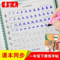 章紫光一年级下册同步练字帖儿童凹槽楷书小学生字帖练字本初学者
