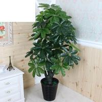 大型客厅落地绿植树装饰塑料花假发财树仿真植物盆栽滴水观音盆景