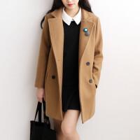 韩国秋冬新款矮小个子韩版毛呢外套女学生加厚学院风修身呢子大衣