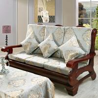 实木沙发垫带靠背加厚海绵中式沙发坐垫联邦椅垫