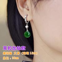 925耳扣 玛瑙珍珠耳环奥地利水晶耳饰奥钻闪钻女款长款耳圈