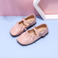 女童小皮鞋软底学生豆豆鞋2021夏季新款女孩公主鞋平底潮休闲单鞋